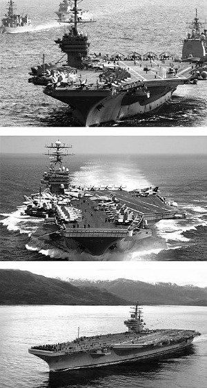 美三大航母将会师西太平洋 基本排除联合作战
