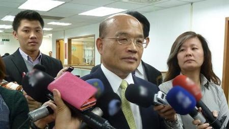 苏贞昌:台应与美日韩一致要求大陆撤回识别区