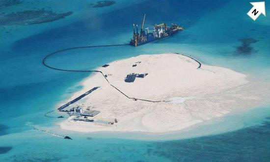 简氏:永暑礁成扩礁大本营 支撑周边岛礁拓恳