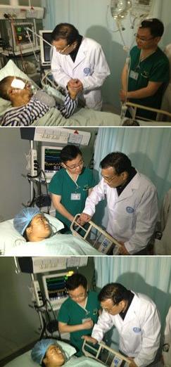 李克强探望伤员:不用担心医药费 政府会管