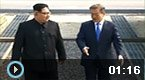 朝韩双方领导人握手合影