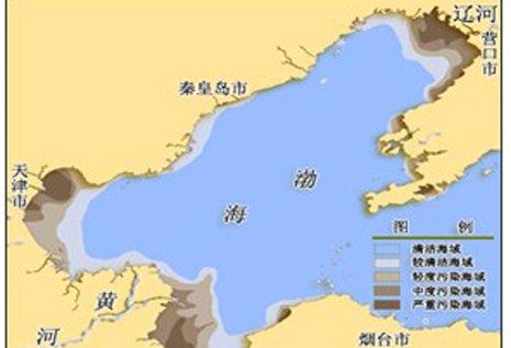 2009年渤海水质等级分布示意图