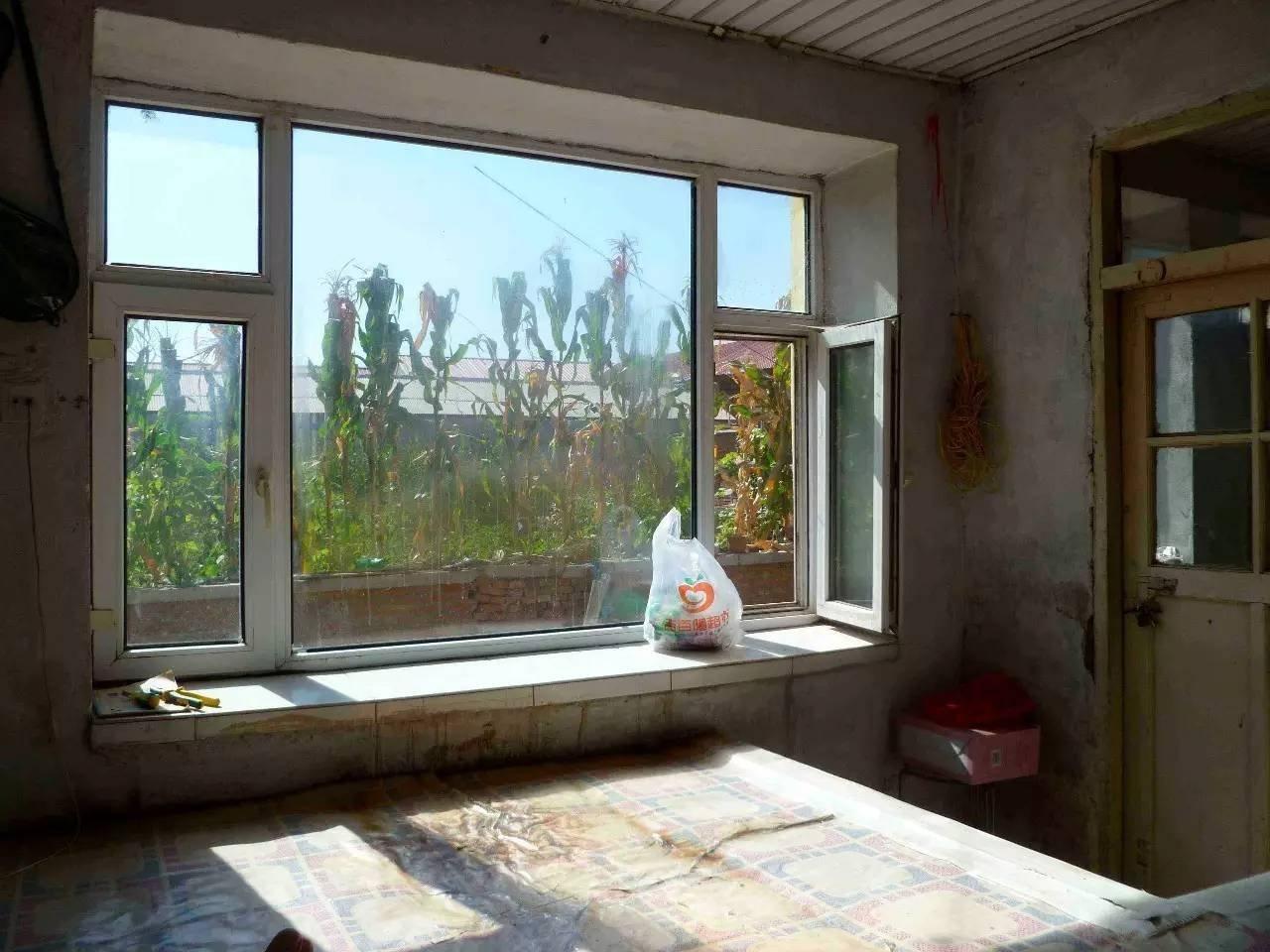 麦尔在大荒地村租住的房间的窗外