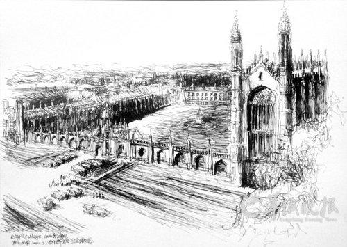这50多件钢笔手绘,其独特之处在于,作者以建筑师的眼光,教育家的视角