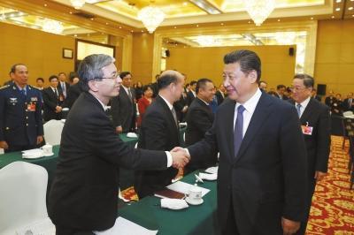 """习近平提出两岸关系和平发展4个""""坚定不移"""""""