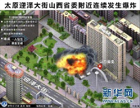 山西省委附近爆炸初步判断为人为制造