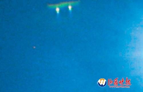 太原临汾上空连现UFO 专家称其出现毫无规律