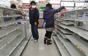 日本超市货物被抢购一空