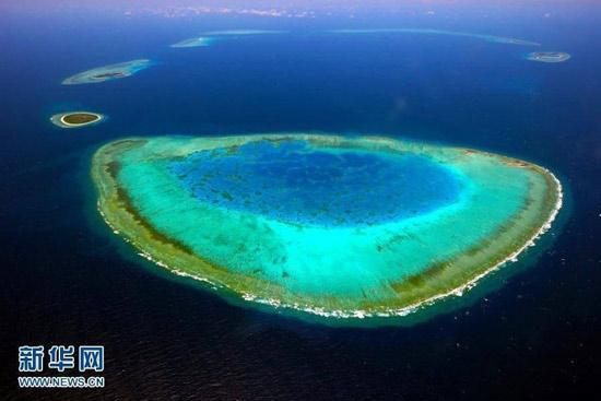 图为西沙永乐群岛羚羊礁。