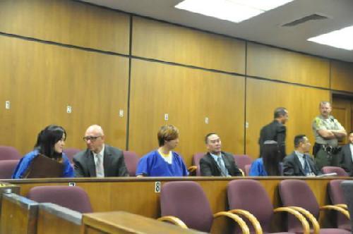 3名被告接受法庭初审。美国中文网资料图