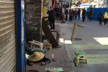 广东男子劫持女童连划多刀 警方警告无效被击毙