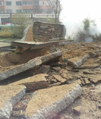 青岛爆炸已致6人遇难40余人伤重卡被掀翻