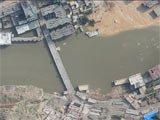 灾区无人机航摄影像图