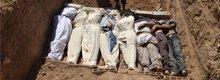 叙利亚化学武器遇难者遗体下葬