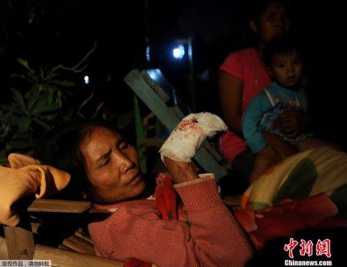 缅甸6.8级地震已致26人死亡 数百人受伤(图)