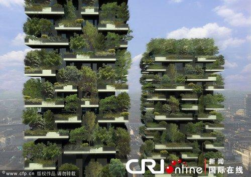 """意大利米兰两座""""空中森林""""公寓初具规模"""