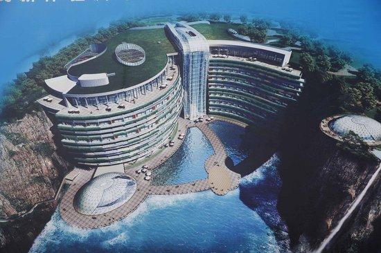 """上海开建世界上首个五星级""""深坑酒店"""""""