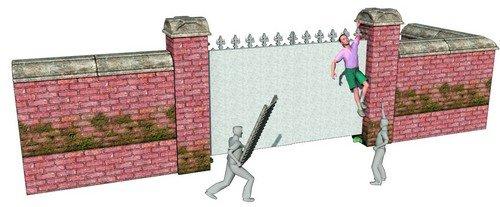 15岁男生翻墙被铁门戳伤