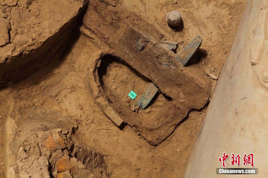 兵马俑考古首次发现完整秦代弓弩 弓弦清晰可见 - 暮色苍茫 - 赵破奴