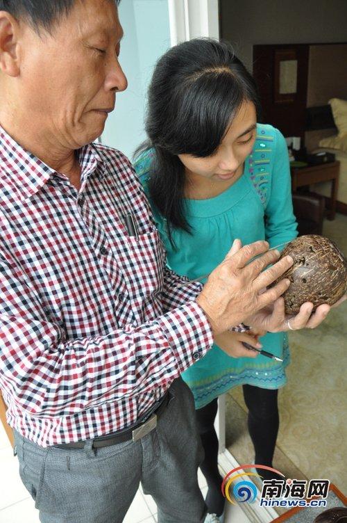 海口椰雕老人张型富 只要活着 有人想学我就教