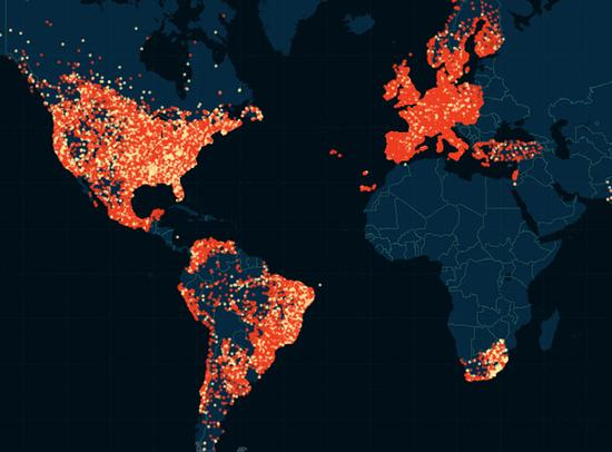 婚外情网站泄密资料被绘成出轨地图 遍布5万城市