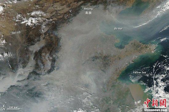 我国首次单发霾预警 灰霾面积超100万平方公里