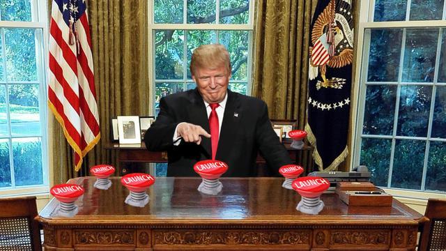 就怕你发疯!美国会考虑禁止特朗普首先使用核武 - 海阔山遥 - .