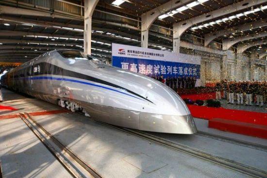 南车更高速度试验列车,时速将超过500公里
