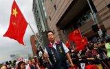 台湾统派上千人围堵民进党总部