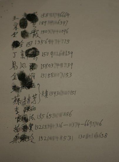 14名访民名单