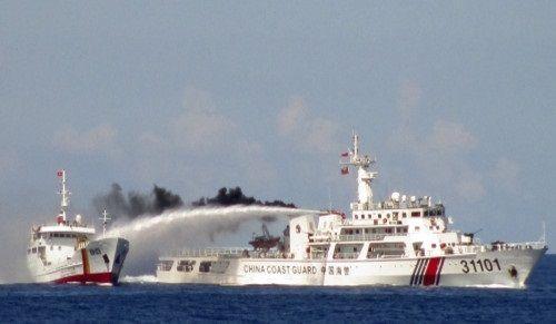 日媒称中越船只再次在南海发生碰撞