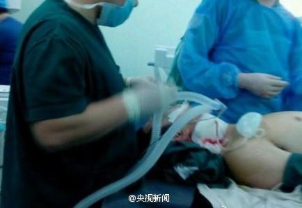 高清图—还没王法了!河北省易县人民医院外科医生被病人割喉