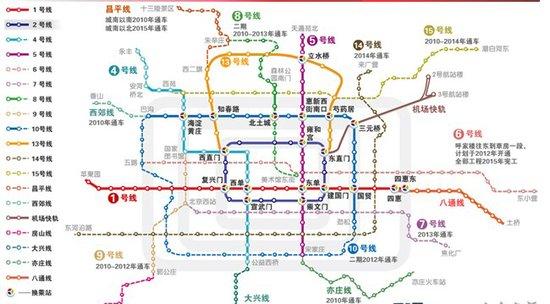 北京地铁线路图-北京4条新地铁明早通车 30条公交线调整优化