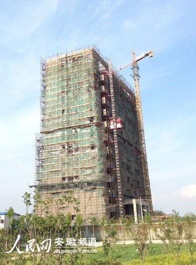 在建的怀远县国土局新大楼