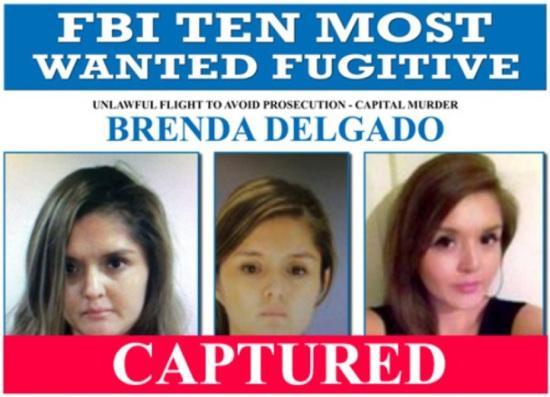 FBI十大通缉犯名单唯一女逃犯落网 曾买凶杀情敌