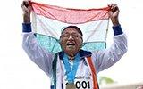印度101岁女人百米短跑赛夺金