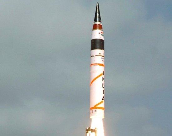 印军今年将试射两次烈火5导弹 可携3枚核弹头