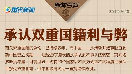 中国不承认双重国籍的利与弊