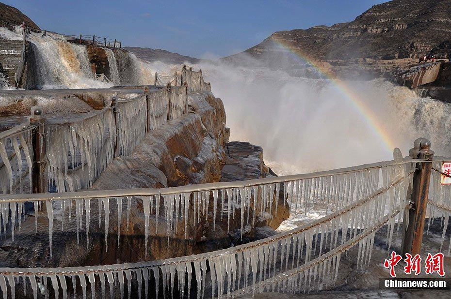 高清:黄河壶口瀑布出现冰挂景观 - 人在上海  - 中華日报Chinadaily