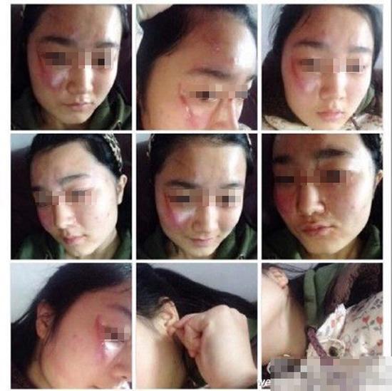 网传女学生被打照