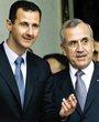 叙利亚总统巴沙尔(左)和黎巴嫩总统苏莱曼