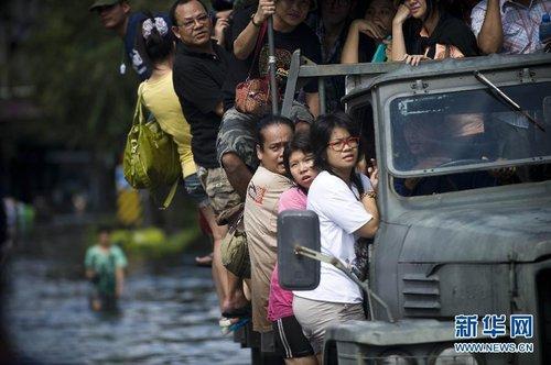 泰国洪灾已造成373人死亡 250多万人受灾