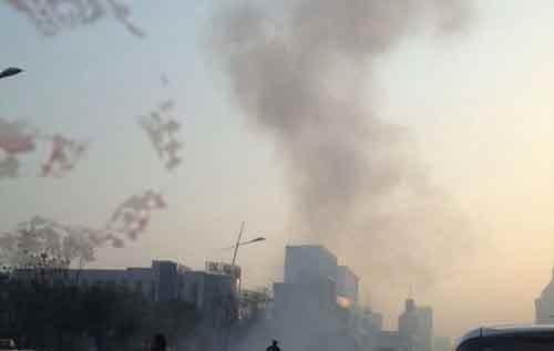山西省委附近发生连环爆炸致1死8伤 道路恢复通行