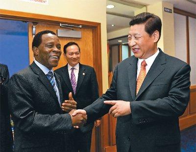 近平会见加勒比国家领导人 推动中加关系发展图片