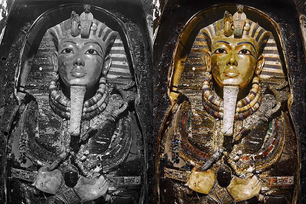 000年历史的埃及少年法老王图坦卡蒙(Tutankhamun)墓穴被发现图片