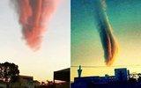 小城现粉尘云 如巨大陨石吊在半空