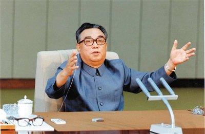 """中国人民熟悉的""""老朋友""""朝鲜领袖金日成。"""