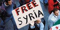 海外的叙利亚人在希腊首都雅典举行反阿萨德的游行