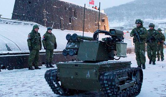 """俄军将量产""""机械人哨兵"""" 用于掩护核弹队伍"""