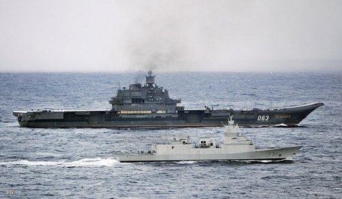 俄罗斯库兹涅佐夫号航母8日抵达叙利亚进行补给